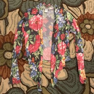 Sweaters - Delia's Floral Cardigan- sz Small